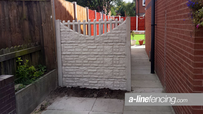 Concrete side fencing