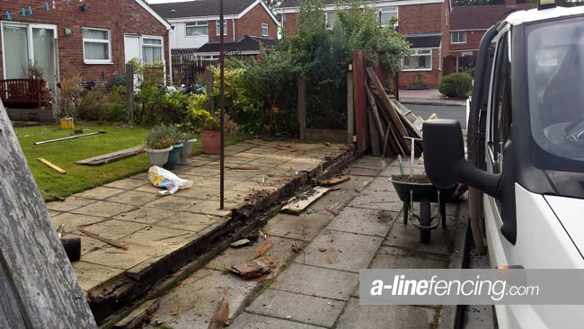 Clear garden ready for new fencing