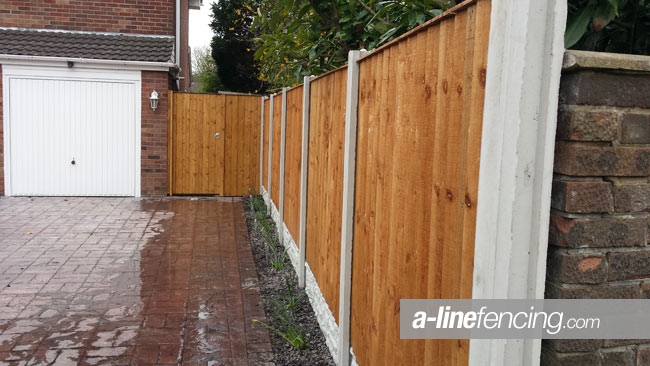 Garden fencing timber gate West Derby A Line Fencing