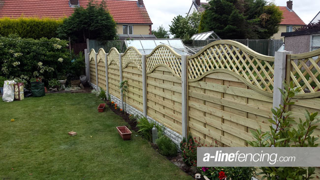 Garden fence 5ft high with concrete posts