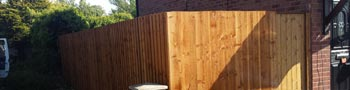 Fencing with timber gate Walton